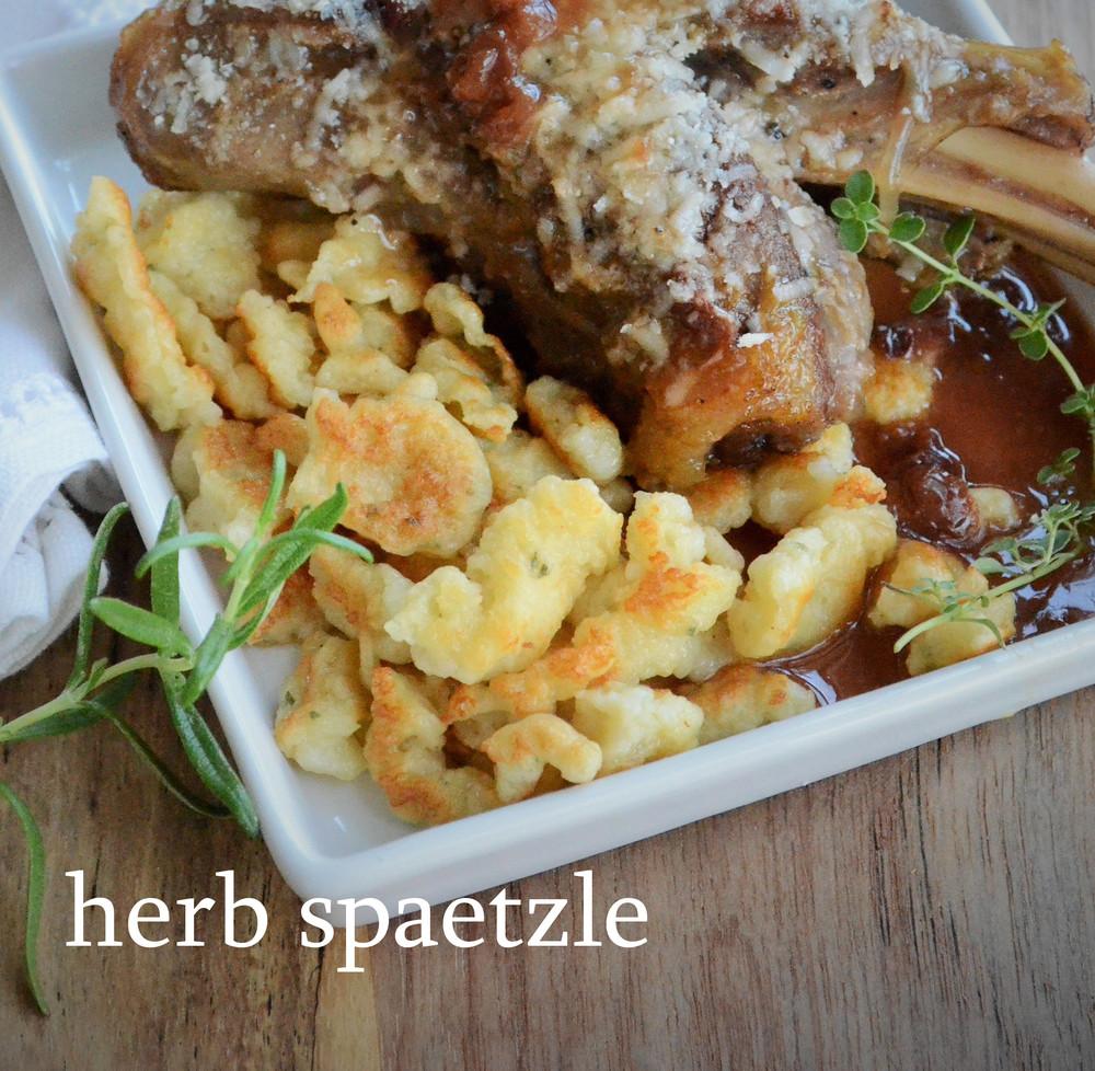 herb spaetzle