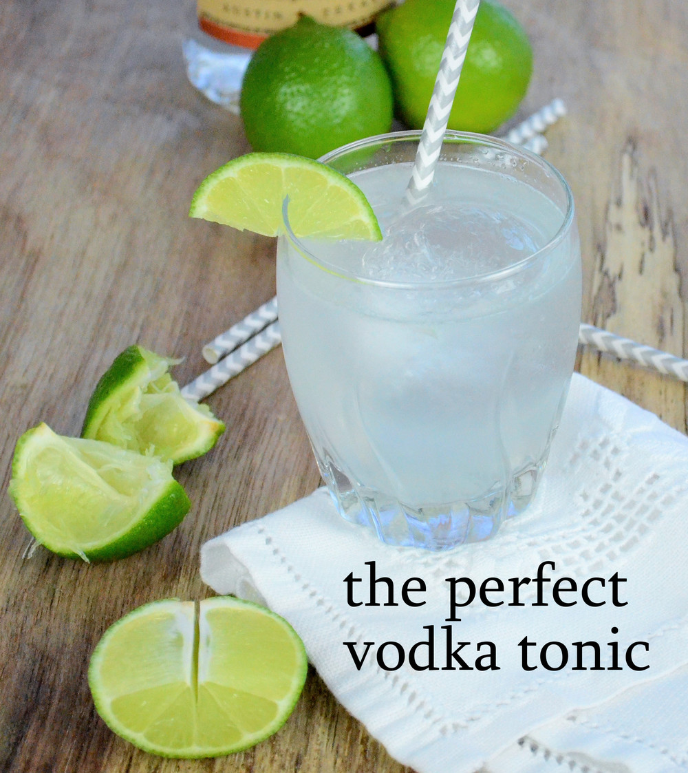 perfect vodka tonic