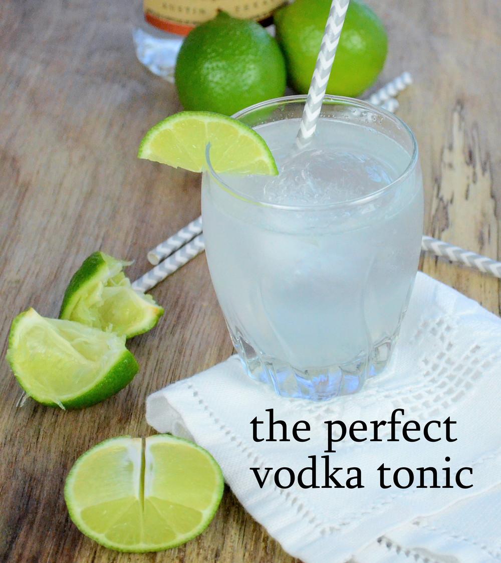 perfect vodka tonic