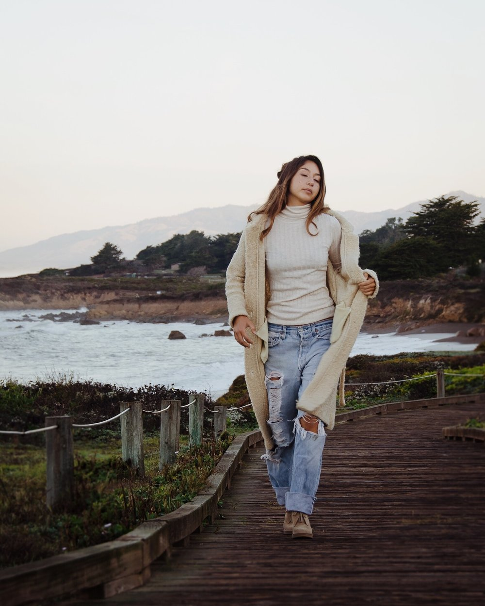 Cambria California Beach Boardwalk Fashion Portrait Miranda Kelton Photography