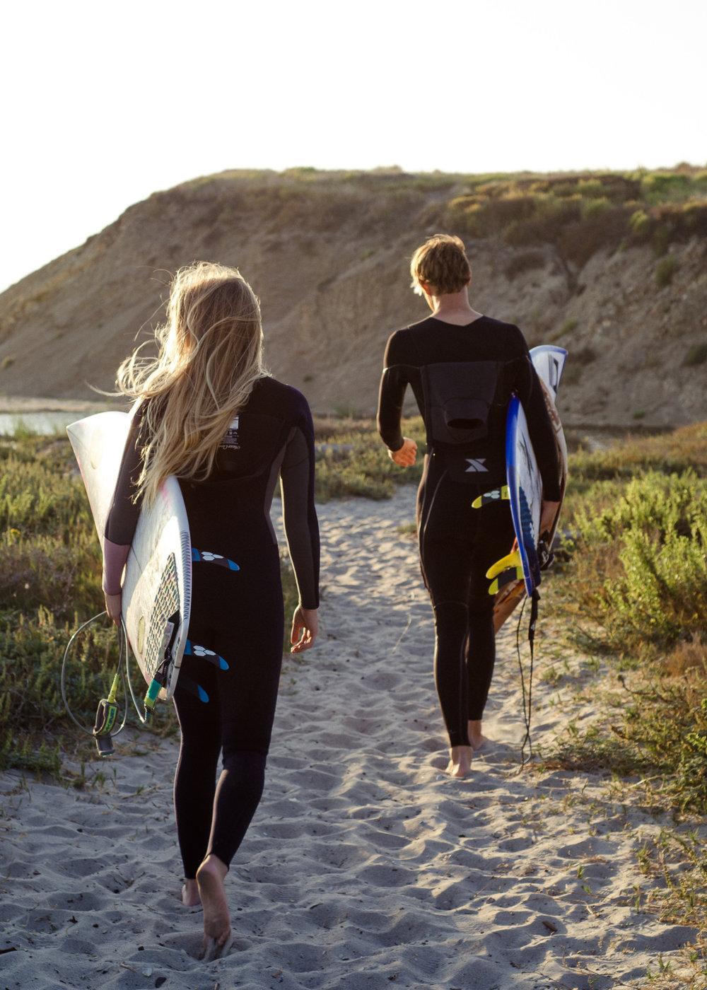 Surfer Couple Santa Barbara Photographer Miranda Kelton Photography