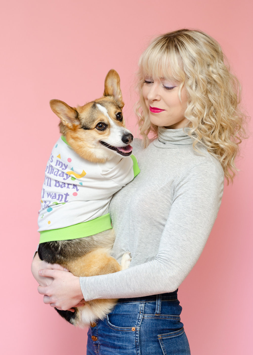 80s Fashion Pet Photoshoot Corgi Dog Los Angeles Photographer Miranda Kelton Photography