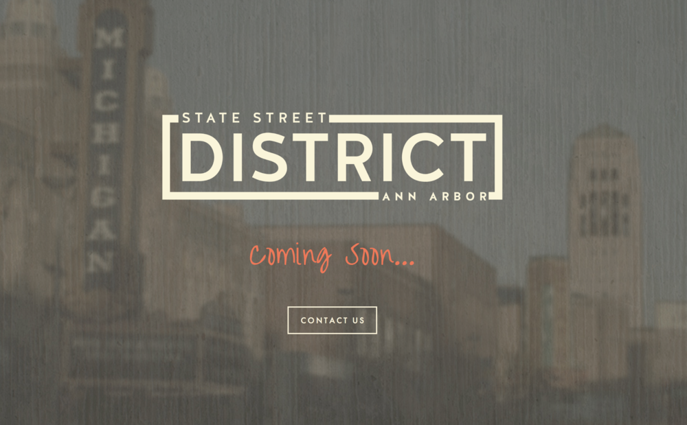Web build, logo design & full rebranding for the Ann Arbor State Street District Association. This project utilized code injection to customize elements on a Squarespace platform.