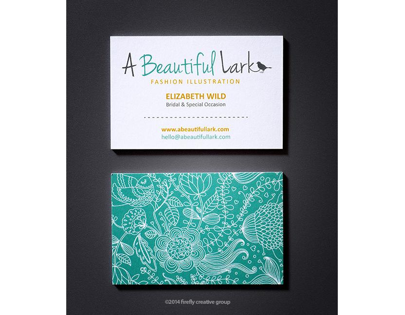 A Beautiful Lark Business Card Design