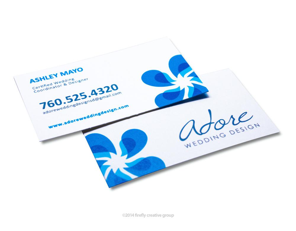 Adore Wedding Design Business Card Design