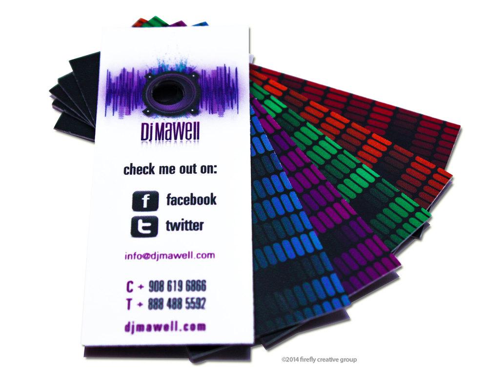 DJ Mawell Business Card Design