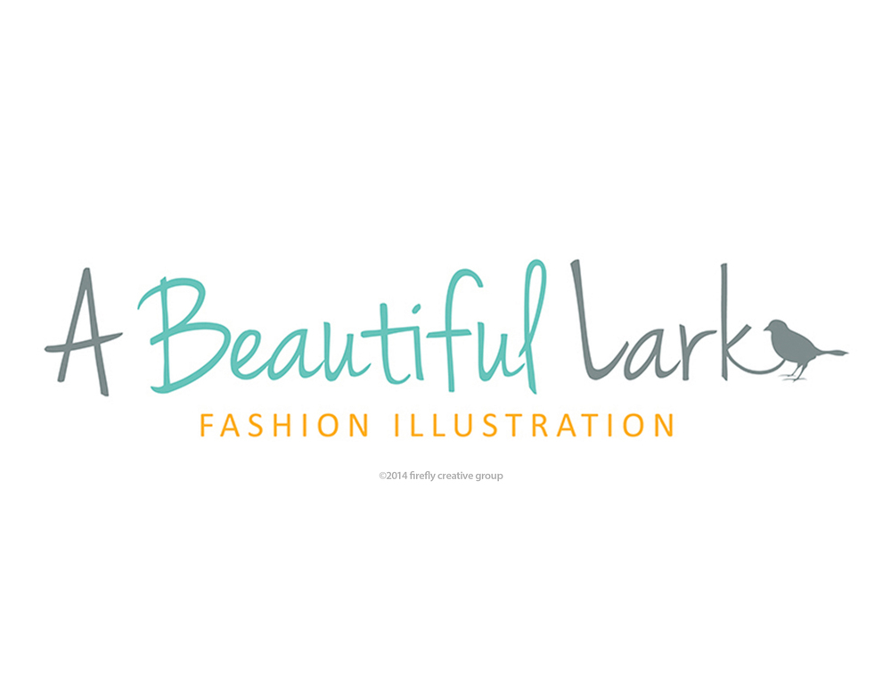 A Beautiful Lark Fashion Illustration Logo Design