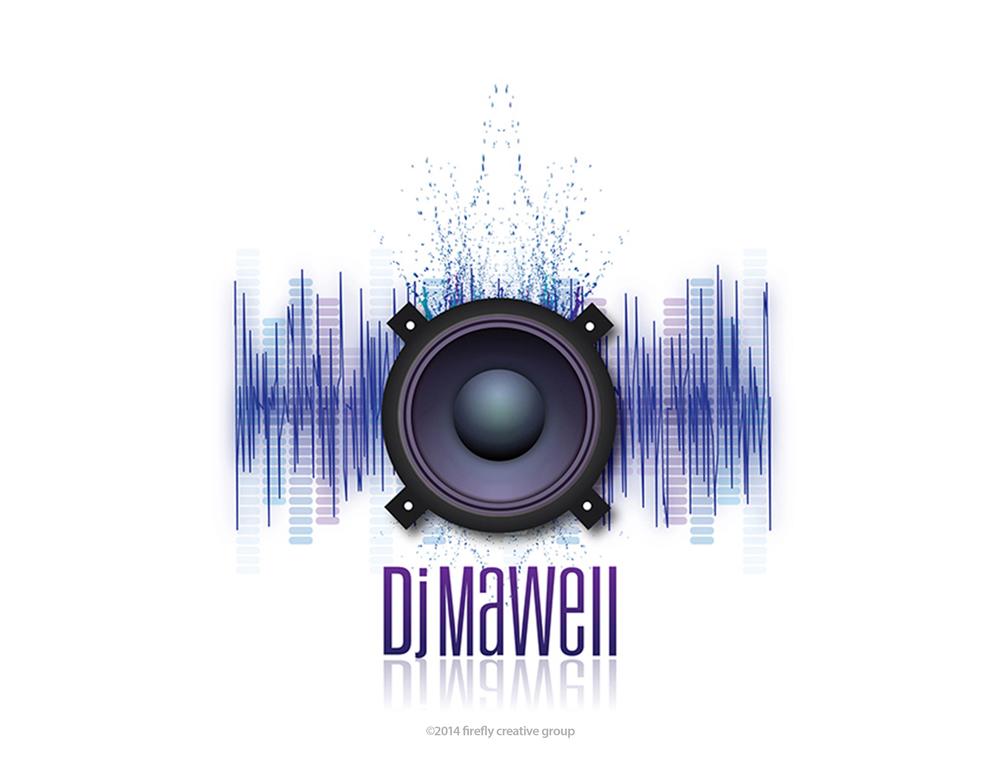 DJ Mawell Logo Design