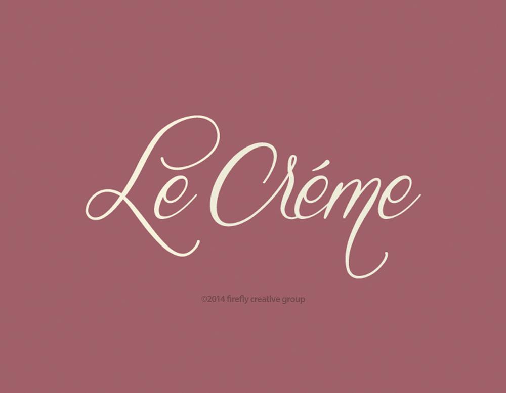 Le Creme Logo Design