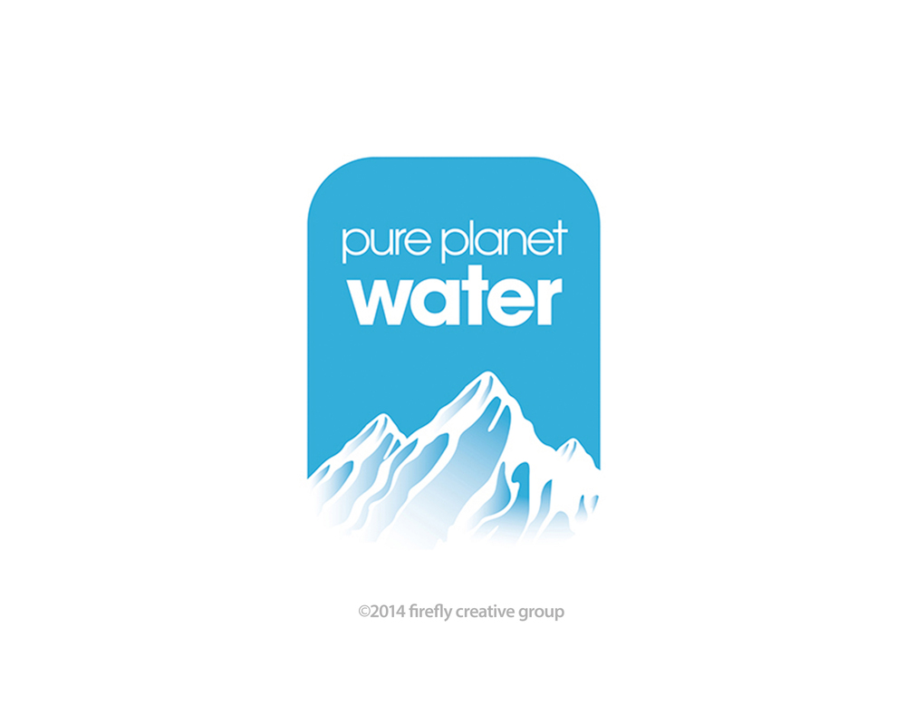 Pure Planet Water Logo Design