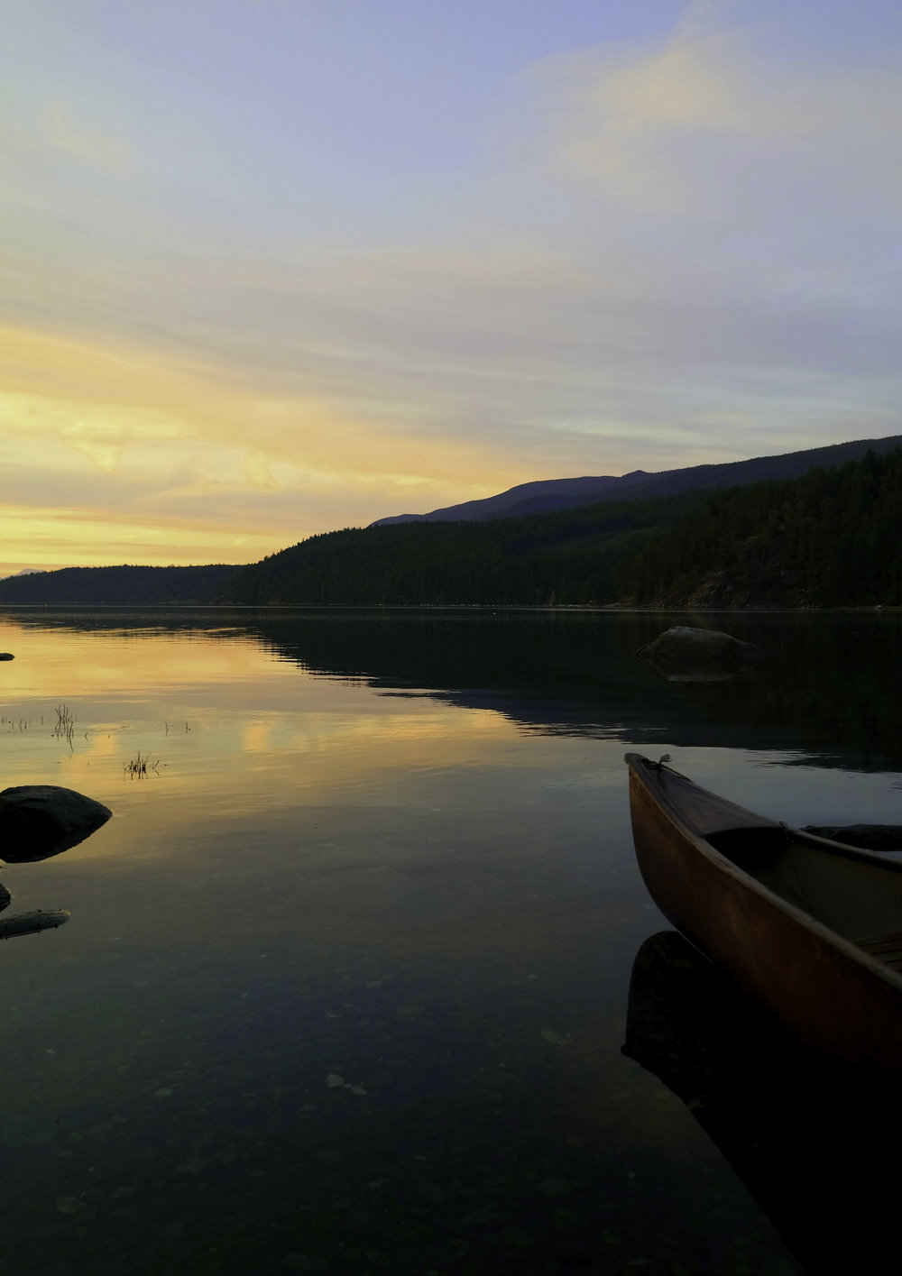 Silence, sunset, and a canoe. Powell River.jpg