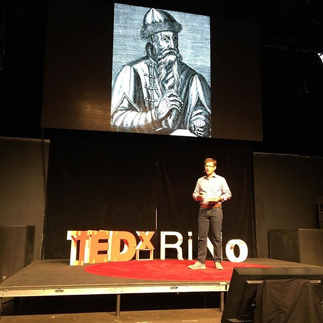 """""""As long as there are printed words on a page, they'll tell a story."""" @JuniperBooks #TEDxRiNo #TEDxRiNoOrigins"""
