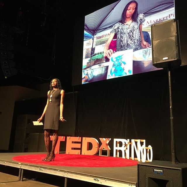"""""""From this moment on, I want you to pay more attention to how you feel. What your body is telling you."""" @mobettagreen #TEDxRiNo #TEDxRiNoOrigins"""
