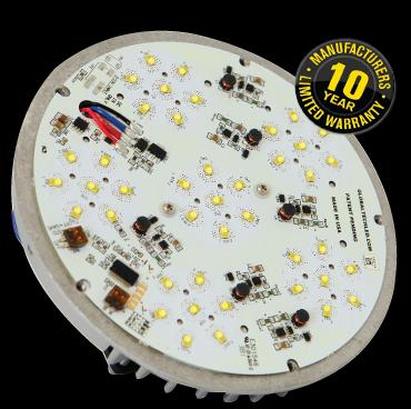 Built in lighting control called 6-5-1 . When selected first six hours on at full power, next five hours at 50% power, last hour back at 100%. Designed to save more energy! At 100 lumen s per watt using Philips chips this is our best retro fit LED fixture.