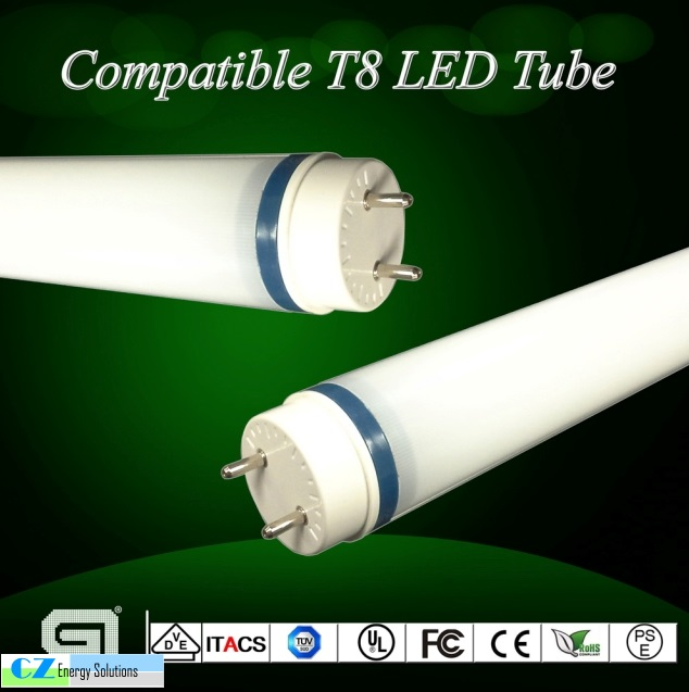 LED tubes are the way of the future.  One of our new product line provides LED tubes that can be installed with existing ballast in place. No re-wire of fixture, save time and labor. If ballast does fail the tube will still work. Comes in different kelvin and wattage. We provide LED tubes that must have the ballast removed as well. We feel this is the best way to go because the existing ballast does use additional wattage's and could catch fire.                                                                                          180 degree Rotating end caps . Meaning light can be directed to different directions.