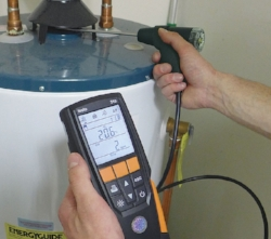 Combustion testing for efficientcy and flue draft.