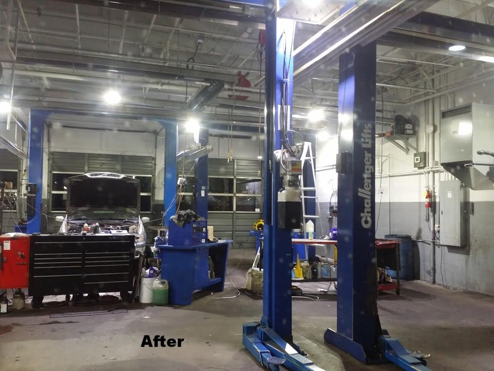 After image...We consider this a 100% Improvement. Removal of 166 four foot fluorescent tubes plus energy reduction of 70%
