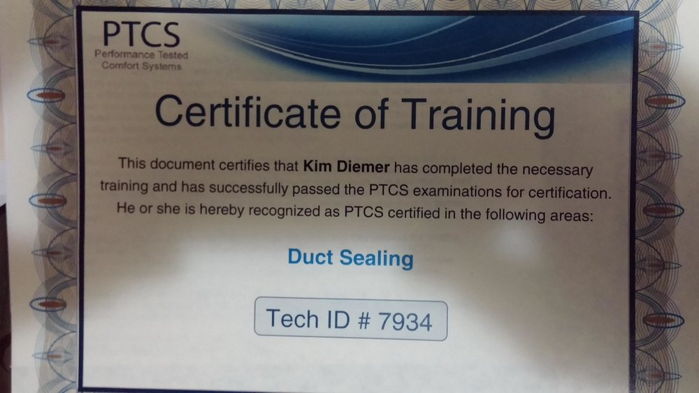 PTCS Performance Tested Comfort Systems Instructor