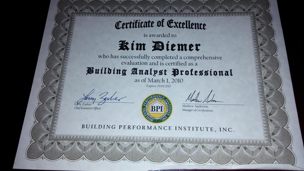 BPI Building Analyst Cert