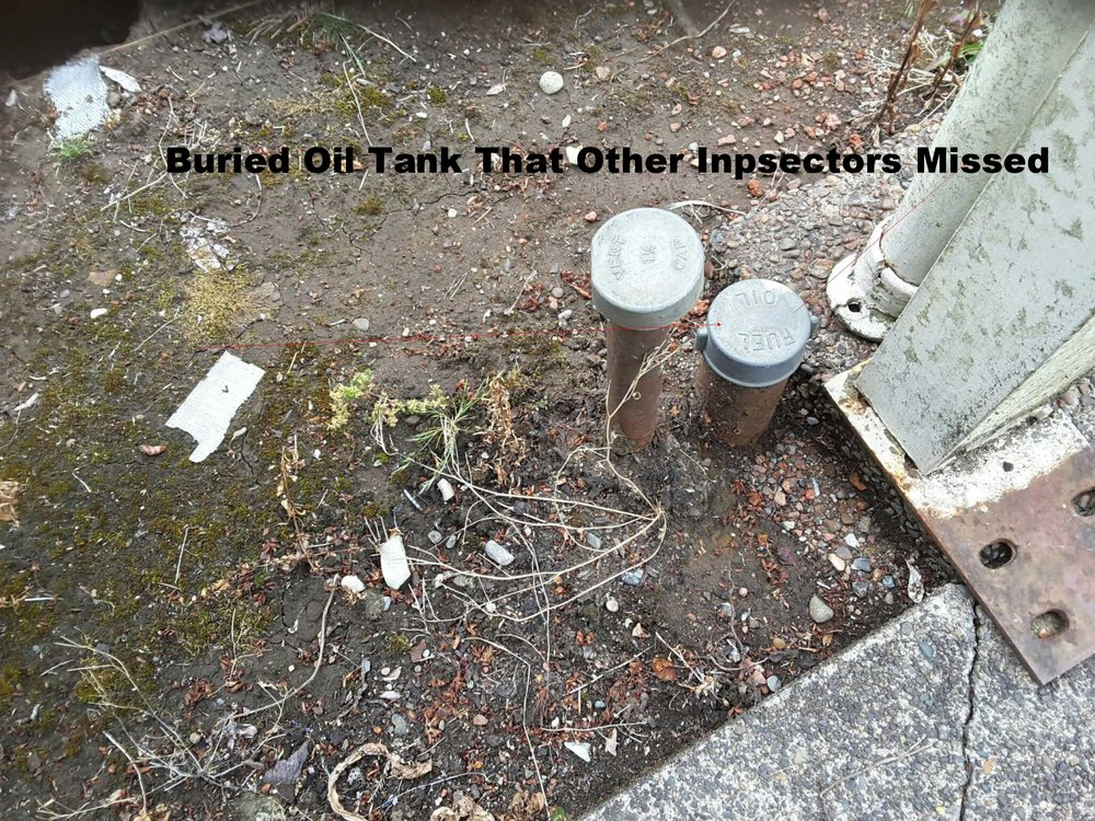 Buried Oil Tank -