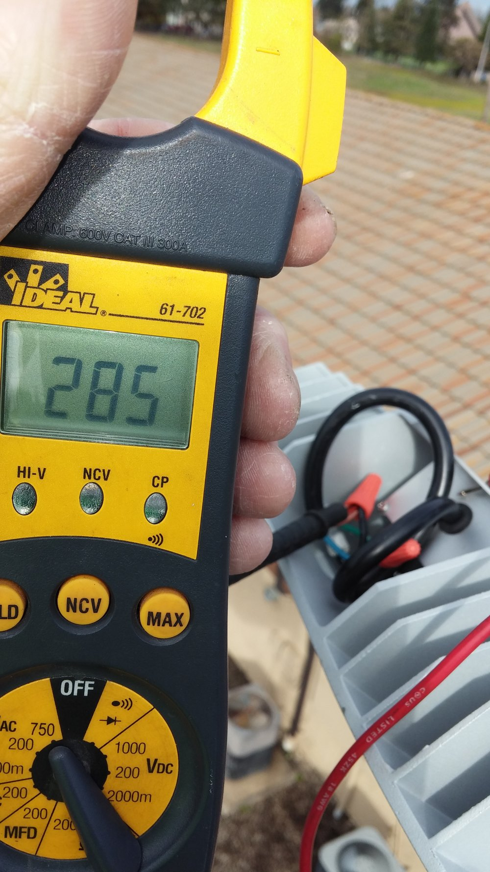 Amp Draw Measuring - We measure the amps per electrical device to see if they are in specs of the original design on manufactures requirements.