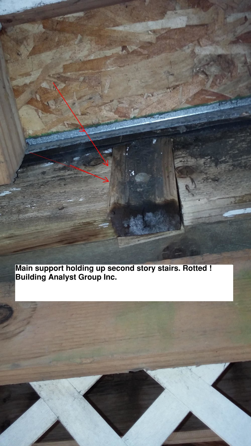 Main Support, Underside Of Decking, Approx 15 Feet, 2nd Story Stairs -