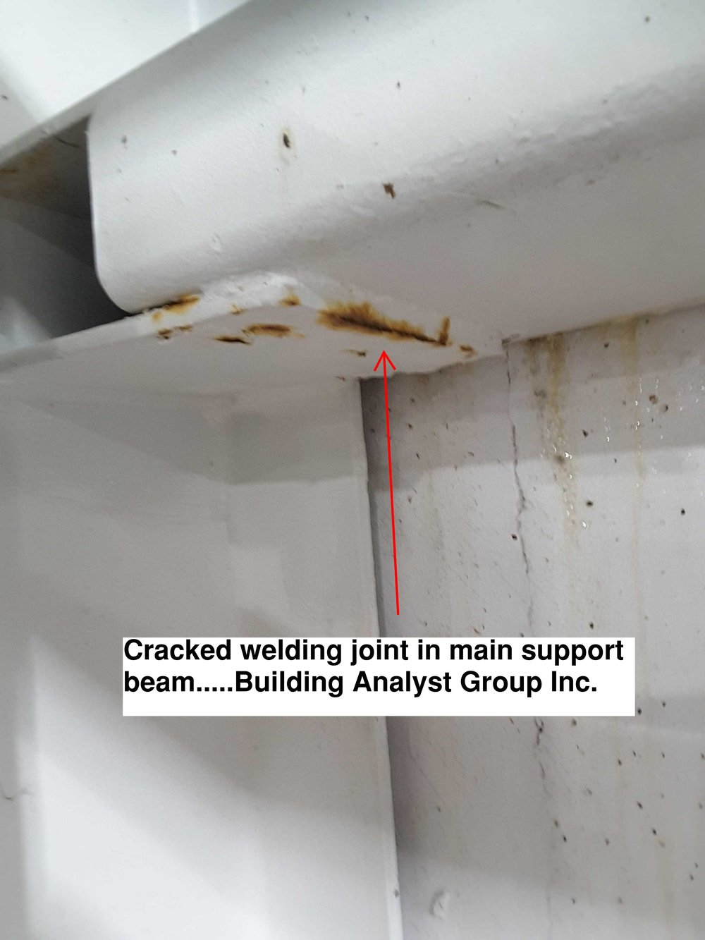 25 Feet From Floor At Top Of Support Beam -