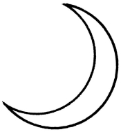 The crescent moons has been used since ancient times to represent silver.