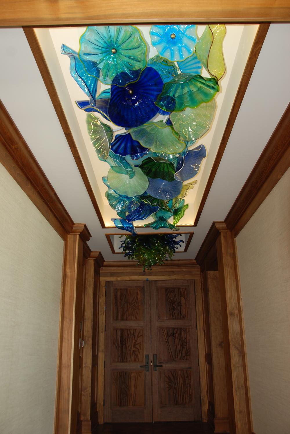 Polo Beach hallway ceiling glass