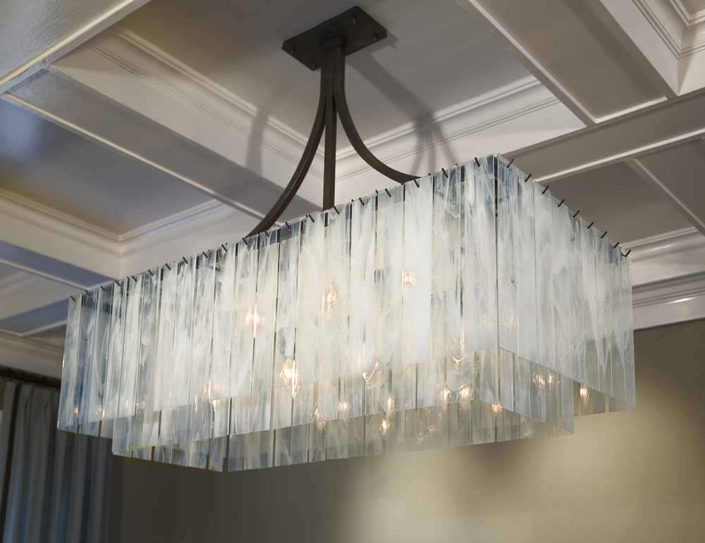 Haiku Chandelier LFI Award winning San Francisco private residence