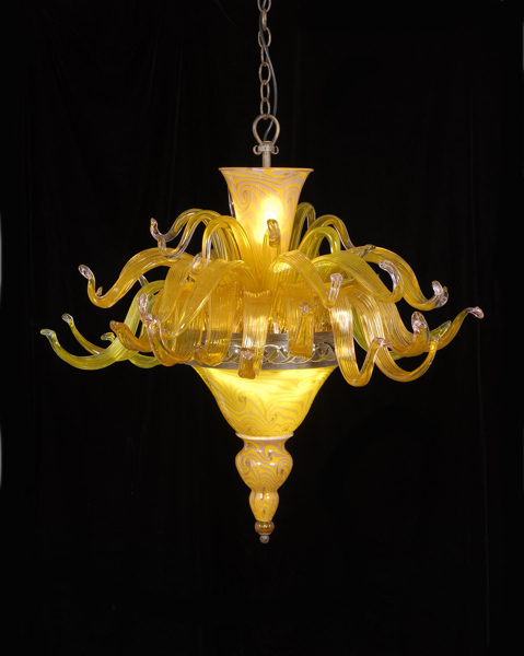 Jungle Chandelier  Lemon Pink