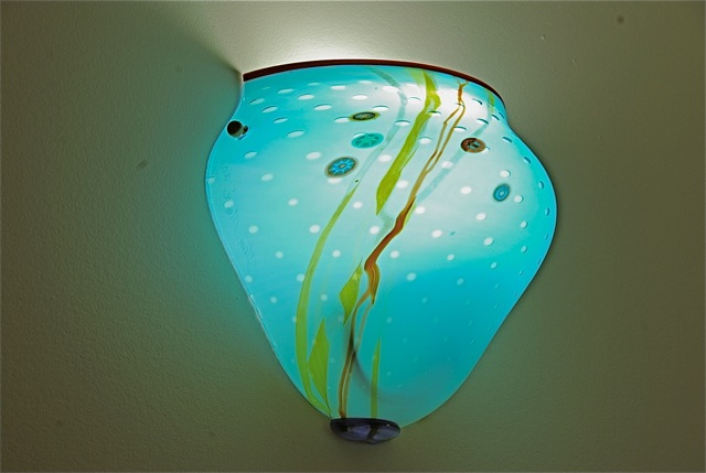 Wall sconce Flush Glass Aquarium, Lahaina