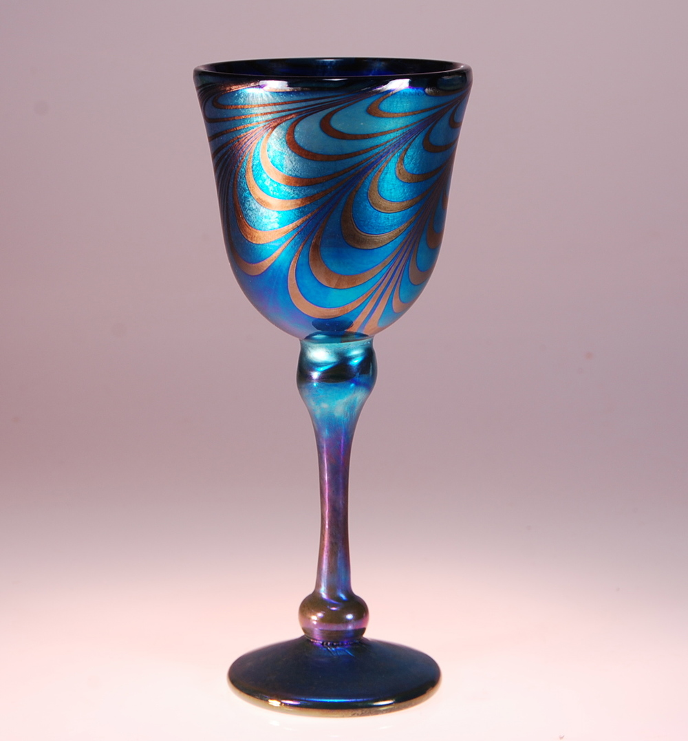 Decorated Wine Goblet