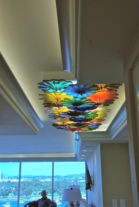 Rondel ceiling lamp Coronado with owner