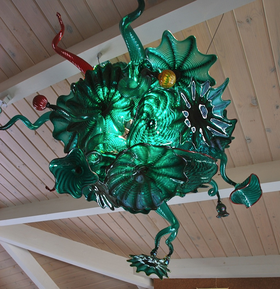 Teal Chandelier Rondel and Horns