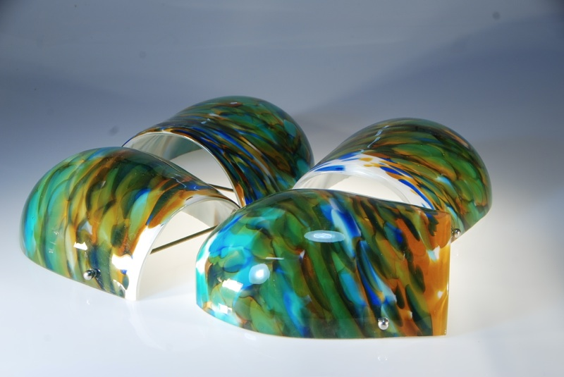 marbled wall sconce