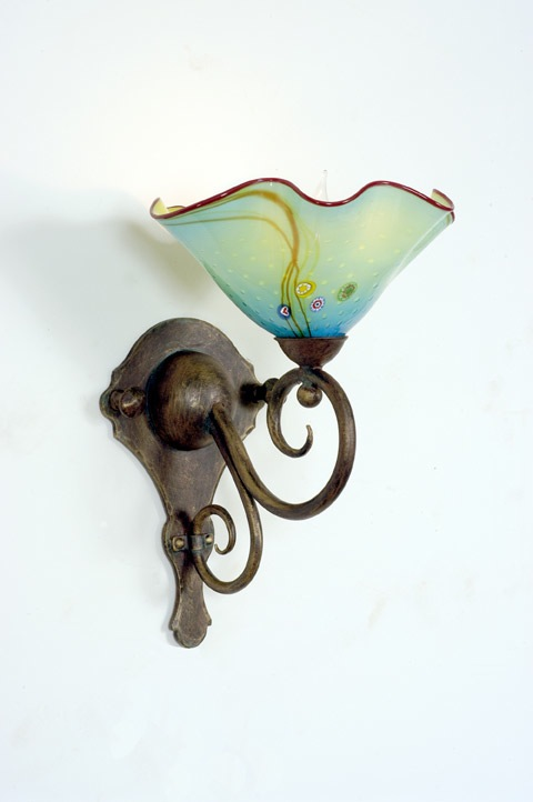 Artistic Glass Wall Sconces : StriniartglasscustomLightingstriniartglasscustomlightingWall Sconce StriniartglasscustomLighting