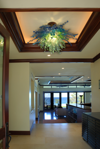 Pololena entryway Kohala ceiling rick strini