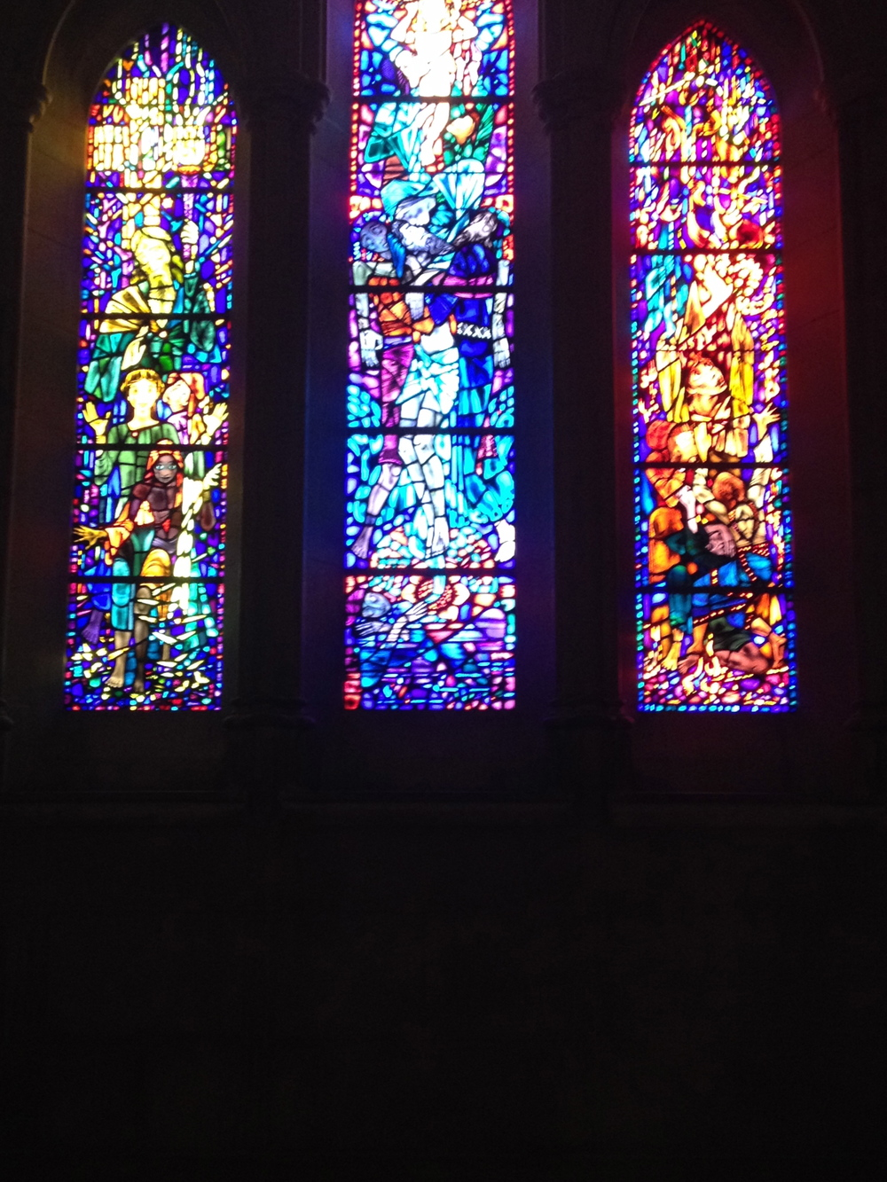 more stained glass windows from the incredible National Cathedral in Washington DC.