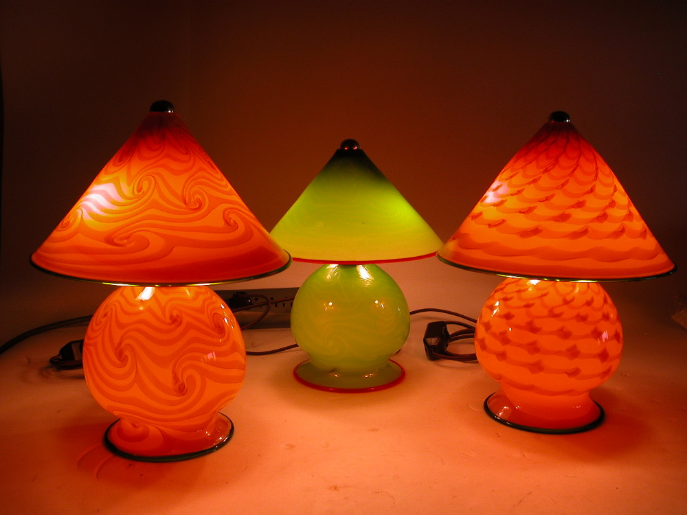 Assorted Gem Lamps Papaya