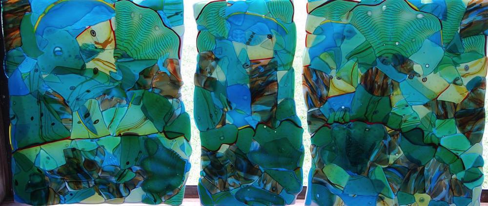 triptych wall piece