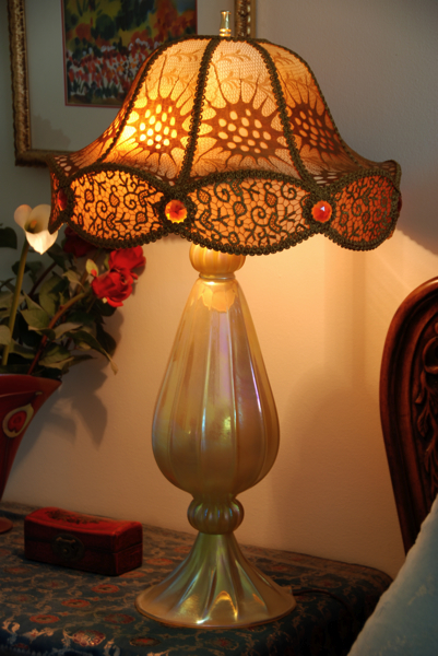 Gold Luster Hand made shade