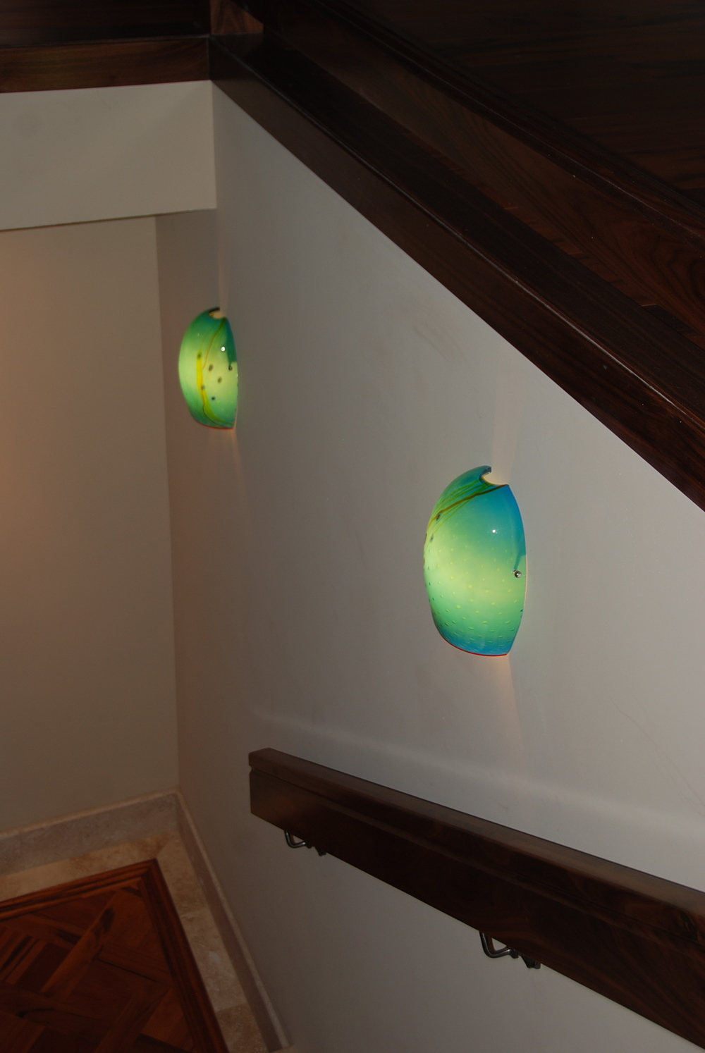 Aquarium Wall Sconce Flush Holes at top and bottom