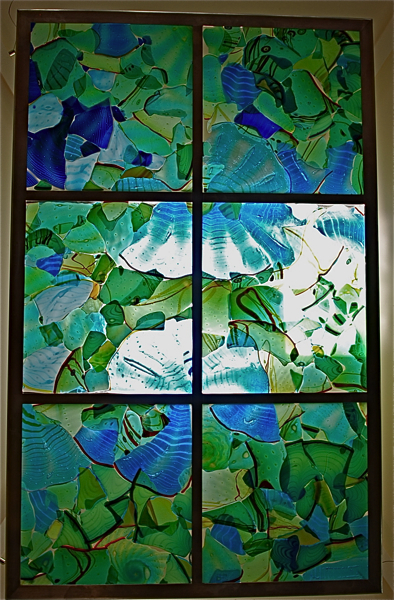Ceiling Skylight, Fused Glass panels by artist rick strini 6.jpg