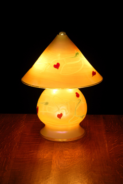 Gem Lamp-Gold luster heart-vine