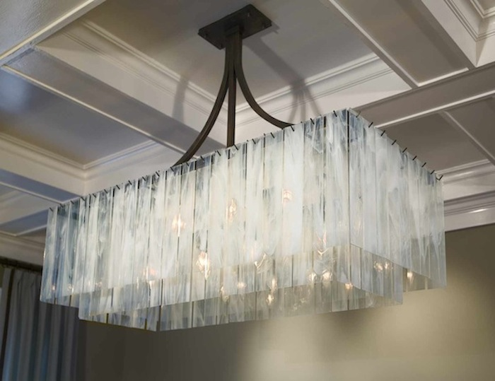 Light Fair International  Award Winning,  Haiku Chandelier-photo by martykelly.com-Jeff Ryan Interiors, San Francisco, CA