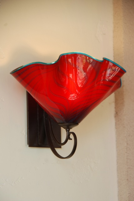 Ruby Ruffle on Hubbardton Forge outdoor hardware