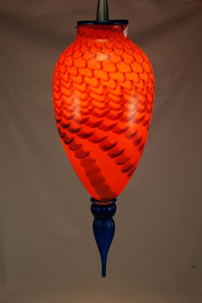 Haiku Orange with turq.finial