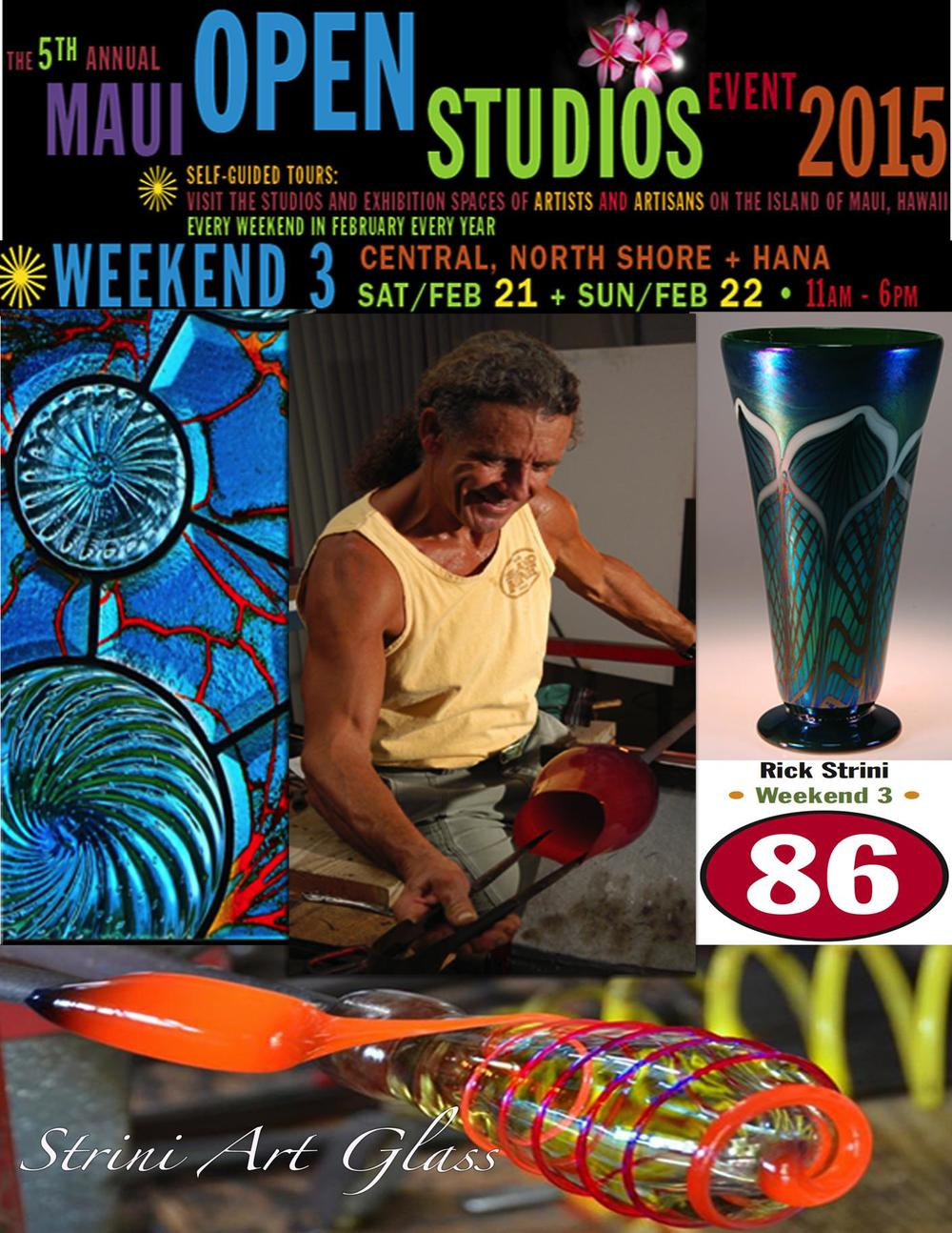 save the date and come meet and greet the artists.  2015  strini art glass