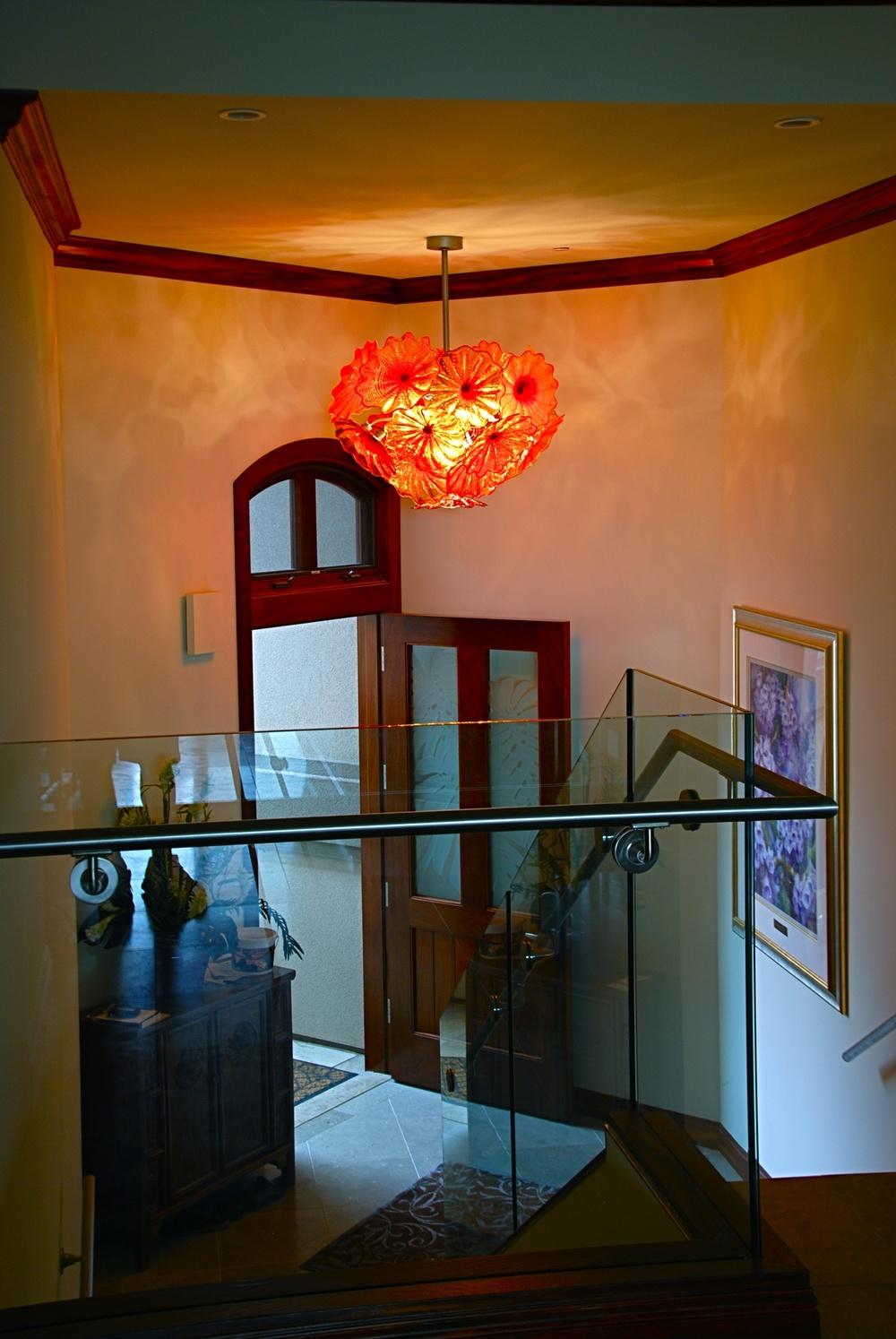 4 rondel chandelier baird by artist rick strini.jpg